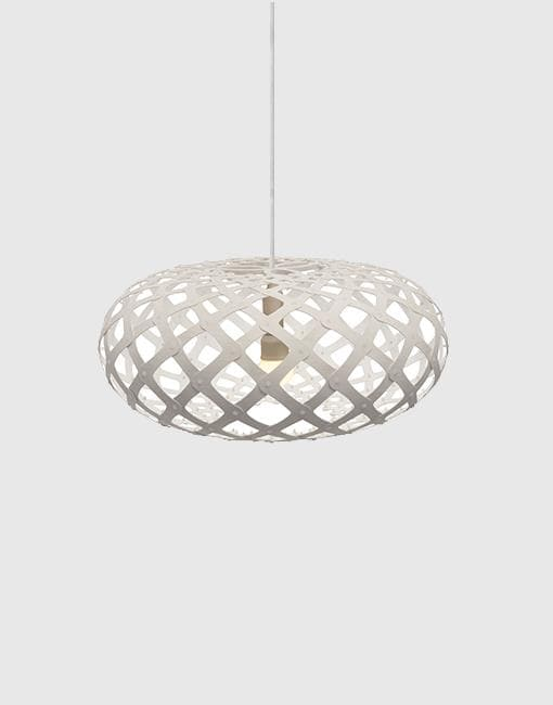 Kina Painted 2 Sides Ceiling Pendant | By David Trubridge Ceiling Pendant David Trubridge ø440mm White
