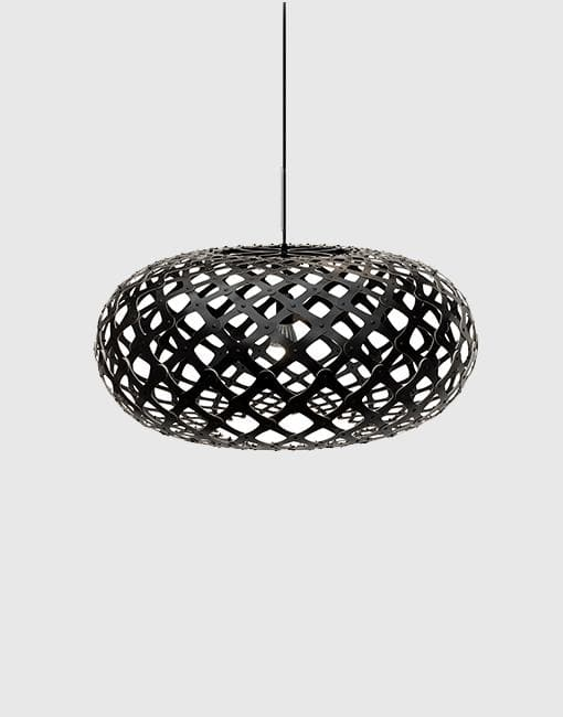 Kina Painted 2 Sides Ceiling Pendant | By David Trubridge Ceiling Pendant David Trubridge ø800mm +£565 Black