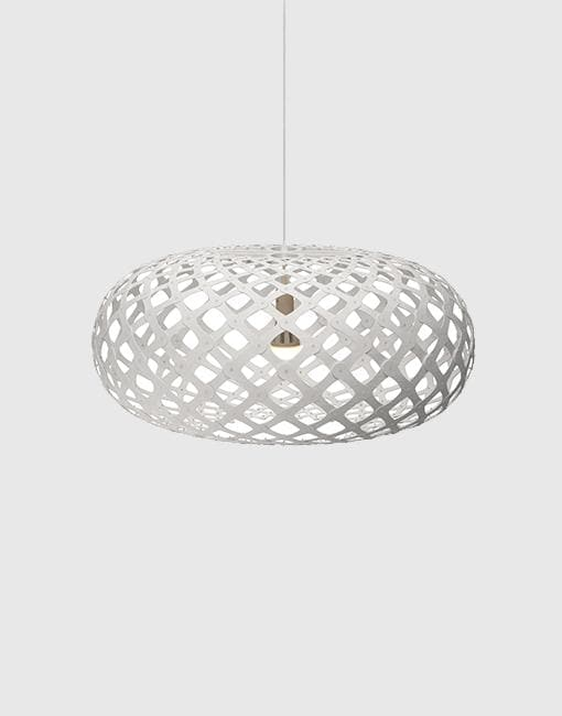 Kina Painted 2 Sides Ceiling Pendant | By David Trubridge Ceiling Pendant David Trubridge ø800mm +£565 White