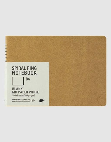 Spiral Ring Notebook B6 | By Traveler's Company Stationery Notable Design
