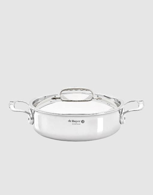 24cm Affinity Stainless Steel Braiser Pot | By de Buyer Cookware De Buyer