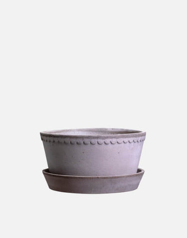 21cm Helena Wide Clay Plant Pot | By Bergs Potters