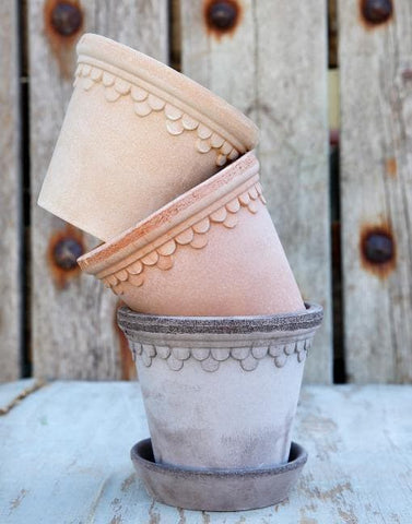 12cm Copenhagen Clay Plant Pot | By Bergs Potters