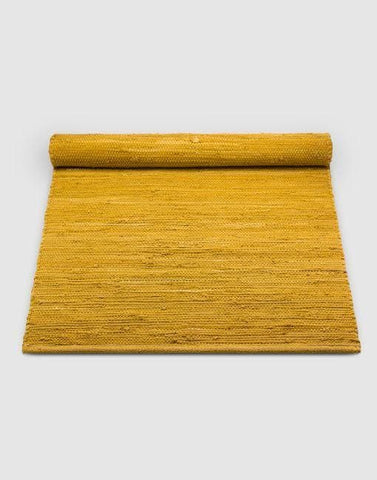Cotton Rug | By Rug Solid Rugs Rug Solid 75cm x 200cm Amber