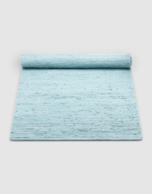 Cotton Blue Rug | By Rug Solid Rugs Rug Solid 75cm x 200cm Daydream Blue