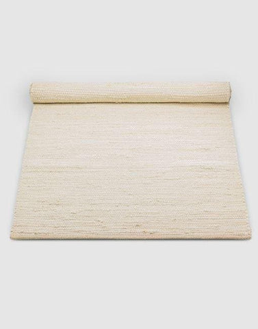 Cotton White Rug | By Rug Solid Rugs Rug Solid 75cm x 200cm Desert White