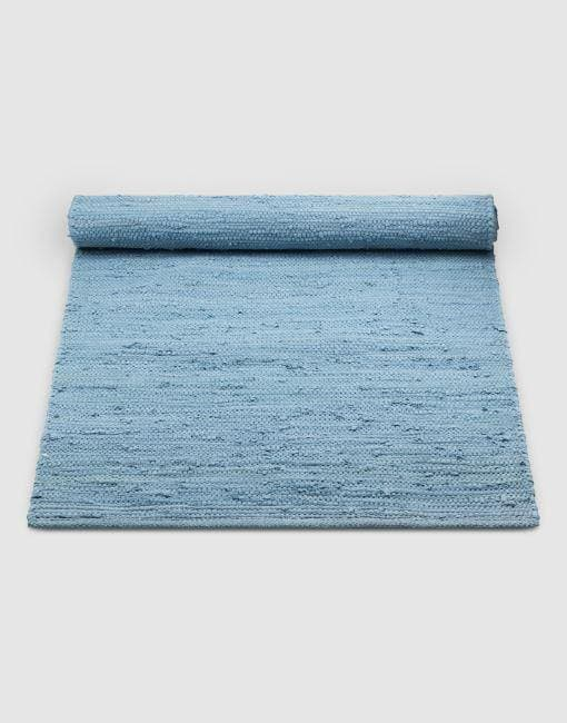 Cotton Blue Rug | By Rug Solid Rugs Rug Solid 75cm x 200cm Eternal Blue