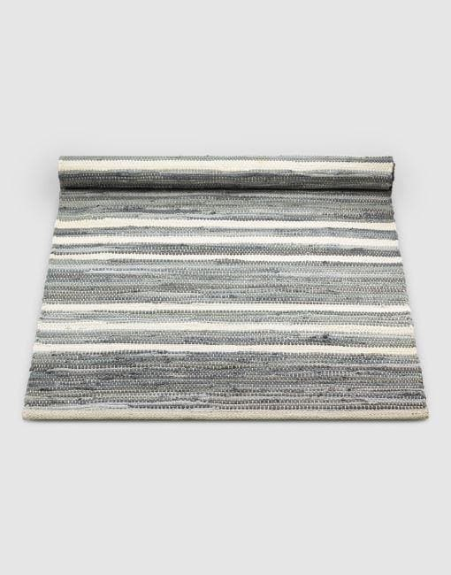 Cotton Grey Off White Stripe Rug | By Rug Solid Rugs Rug Solid