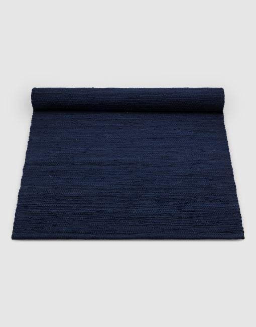 Cotton Blue Rug | By Rug Solid Rugs Rug Solid 75cm x 200cm Ocean Blue