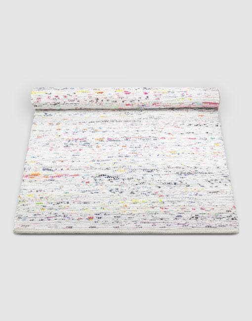 Cotton White Mix Rug | By Rug Solid Rugs Rug Solid