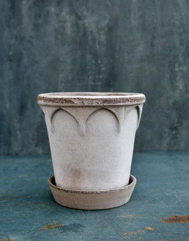 Grey 16cm Elizabeth Clay Plant Pot | By Bergs Potters