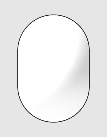 Slimline Flush Oval Mirror 950x 640mm | By uBaaHaus Mirrors uBaaHaus