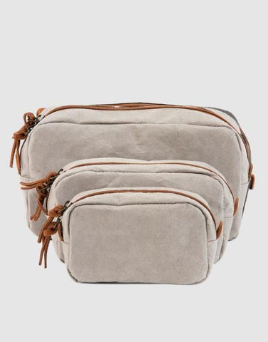Grey Travel/Beauty Case | By Uashmama Laundry & Household Uashmama