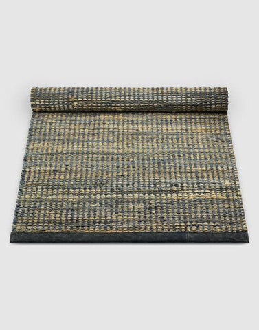 Leather Jute Graphite Rug | By Rug Solid Rugs Rug Solid