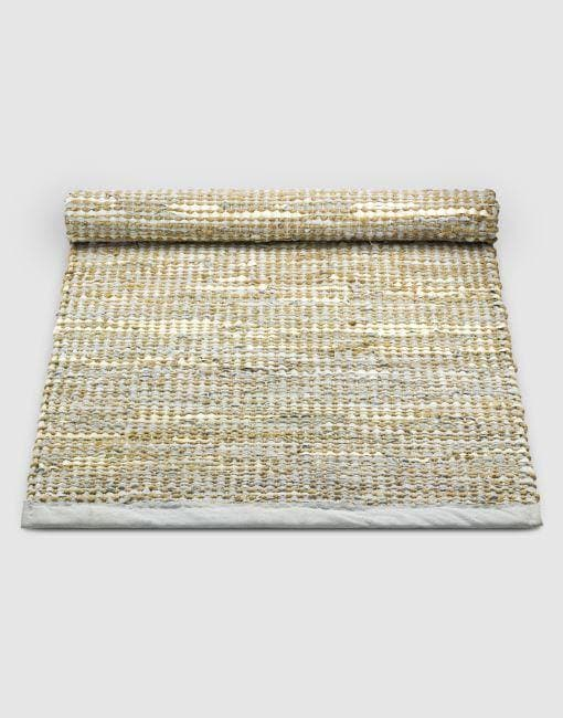 Leather Jute Smooth Grey Rug | By Rug Solid Rugs Rug Solid