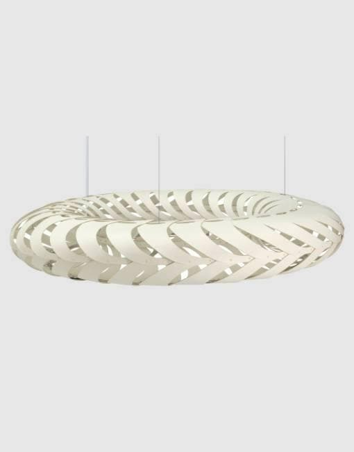 Maru Painted 2 Sides Ceiling Pendant | By David Trubridge Ceiling Pendant David Trubridge Large +$1200 White