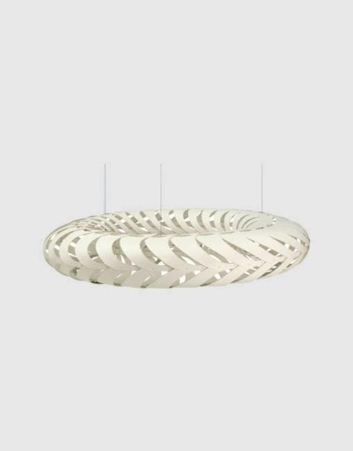 Maru Painted 2 Sides Ceiling Pendant | By David Trubridge Ceiling Pendant David Trubridge Small White
