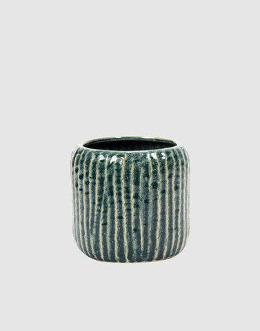 Ribbed Plant Pot | By Serax Plant Pots & Vases Serax Blue / Grey