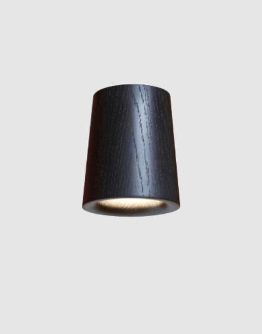 Solid Cone Downlight | By Terence Woodgate Wall & Ceiling Lights Terence Woodgate Black Stained Oak