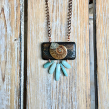 Ammonite and Oxebone Necklace