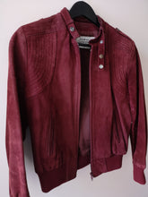 Burgundy suede Jacket