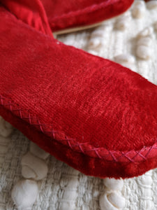 Beaded Velvet Slippers