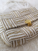 Basketweave Purse- Gold & Tan