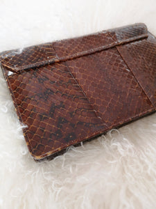 Snakeskin Purse- Brown