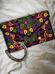 Boho Purse- Black & Hearts