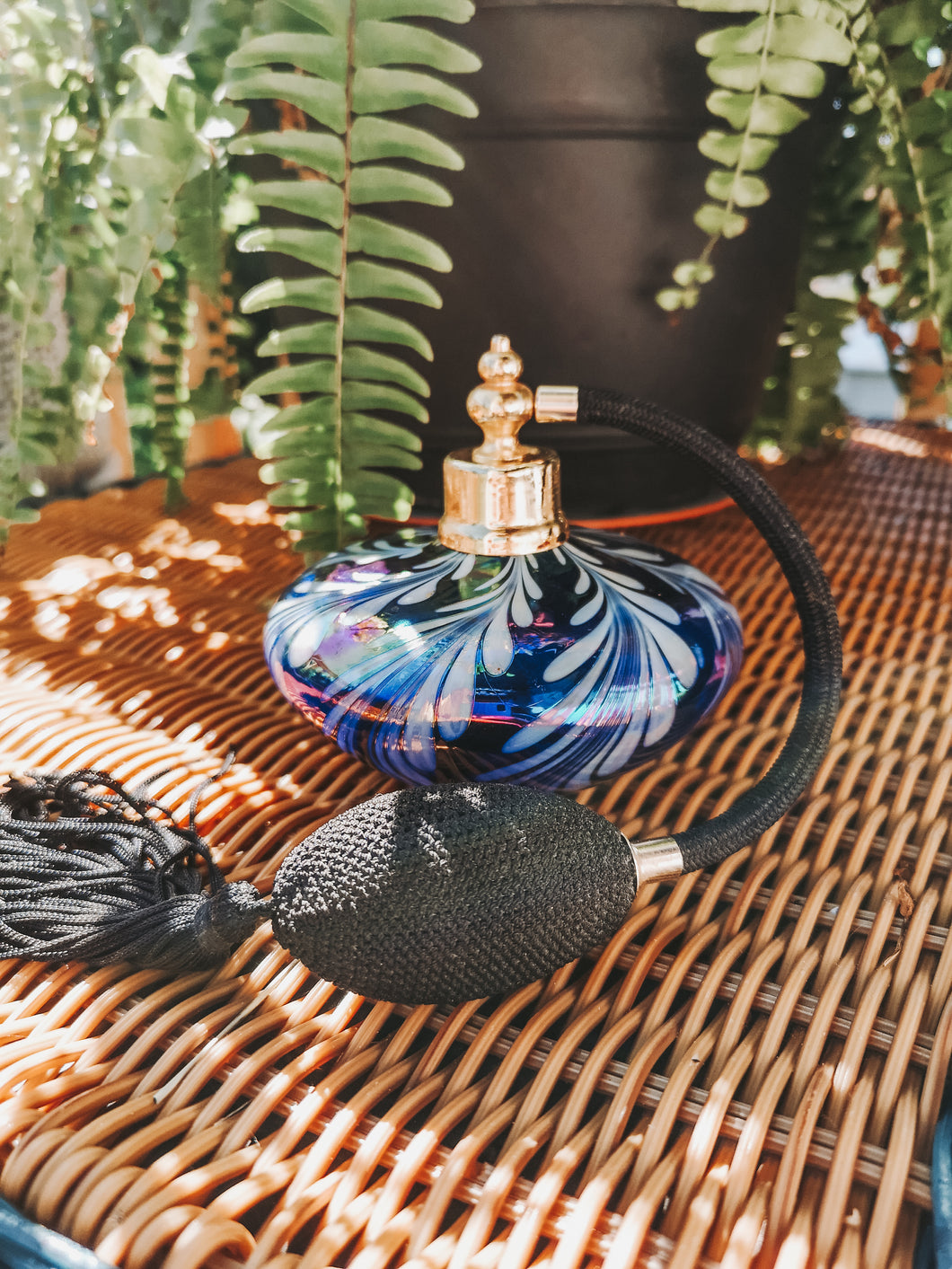 Blown Glass Perfume Bottle