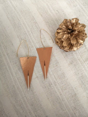 Chixuwa Designs- Copper Triangle Earrings