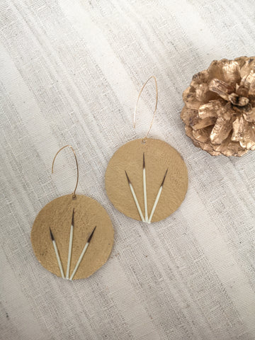 Chixuwa Designs-- Gold Circle Earrings