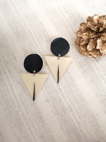 Chixuwa Designs- Black Circle Earrings