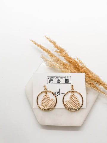 Heart Rattan Earrings