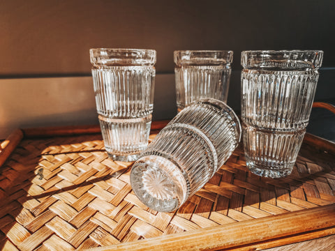 Crystal water glasses