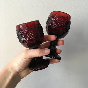 Avon Ruby Red Mini Goblets