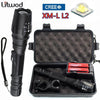 5000 lumen CREE XM-L L2 zoomable LED tactical Flashlight
