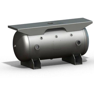 200 Gallon Air Receiver Tank: Horizontal, Extended Top Plate, 200 PSI