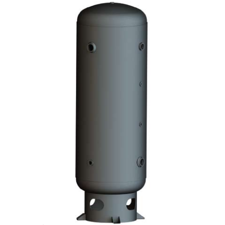 120 Gallon Air Receiver Tank: Vertical, 200 PSI, Stainless Steel