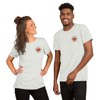 Embroidered Short-Sleeve Unisex T-Shirt