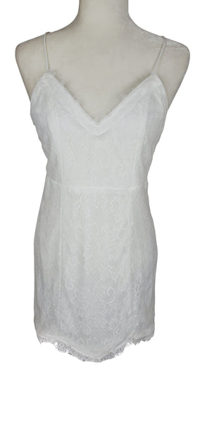 Jealous Tomato White Lace Dress