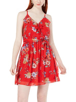 BCX Red Floral Dress