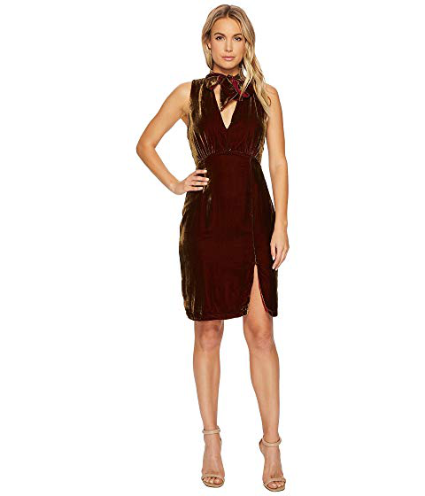 Adelyn Rae Elle Velvet Choker Sheath Dress