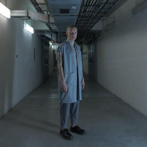LABORATORY GREY SHIRT VEST