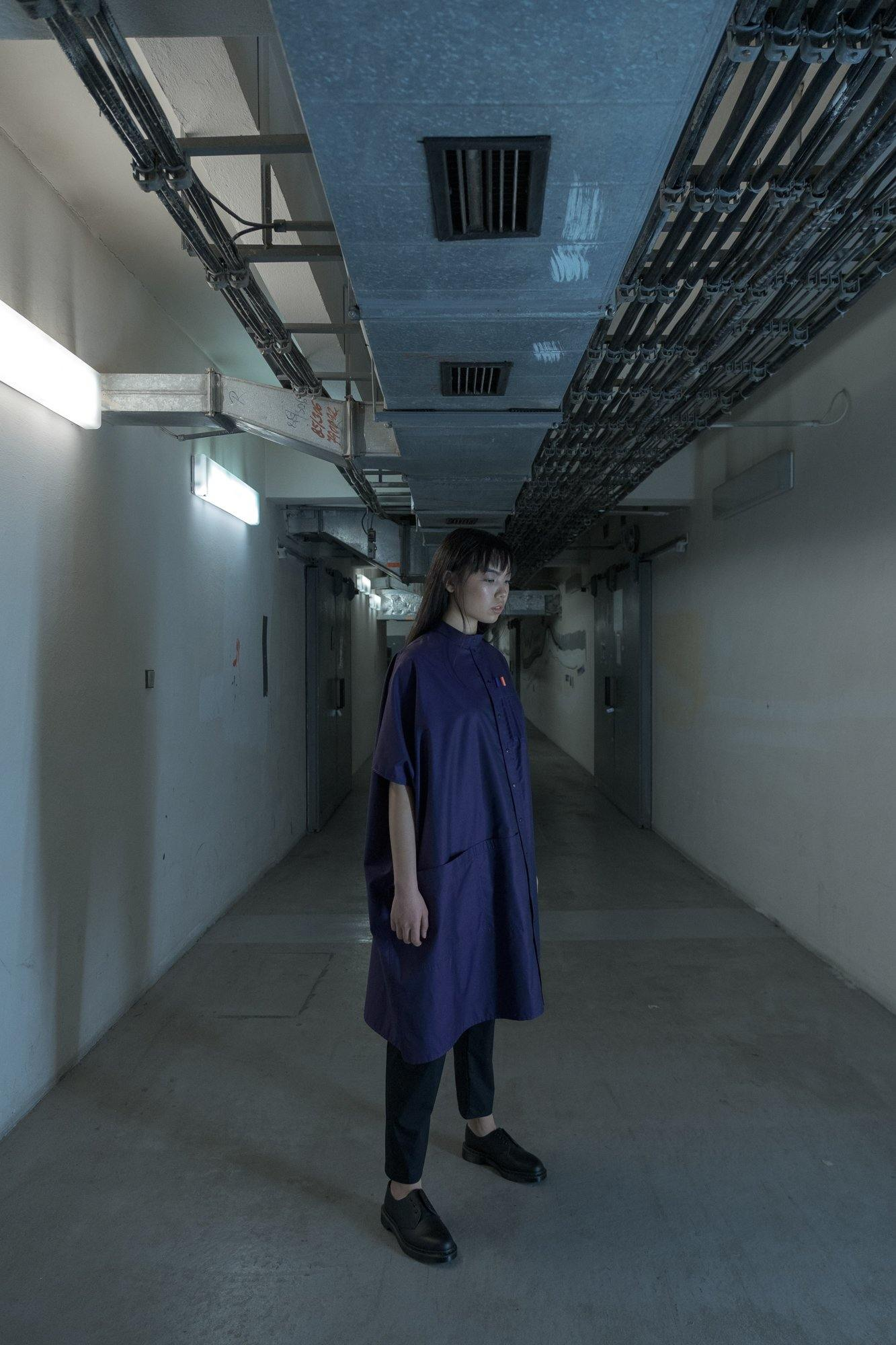 LABORATORY PURPLE OVERSIZED SHIRT