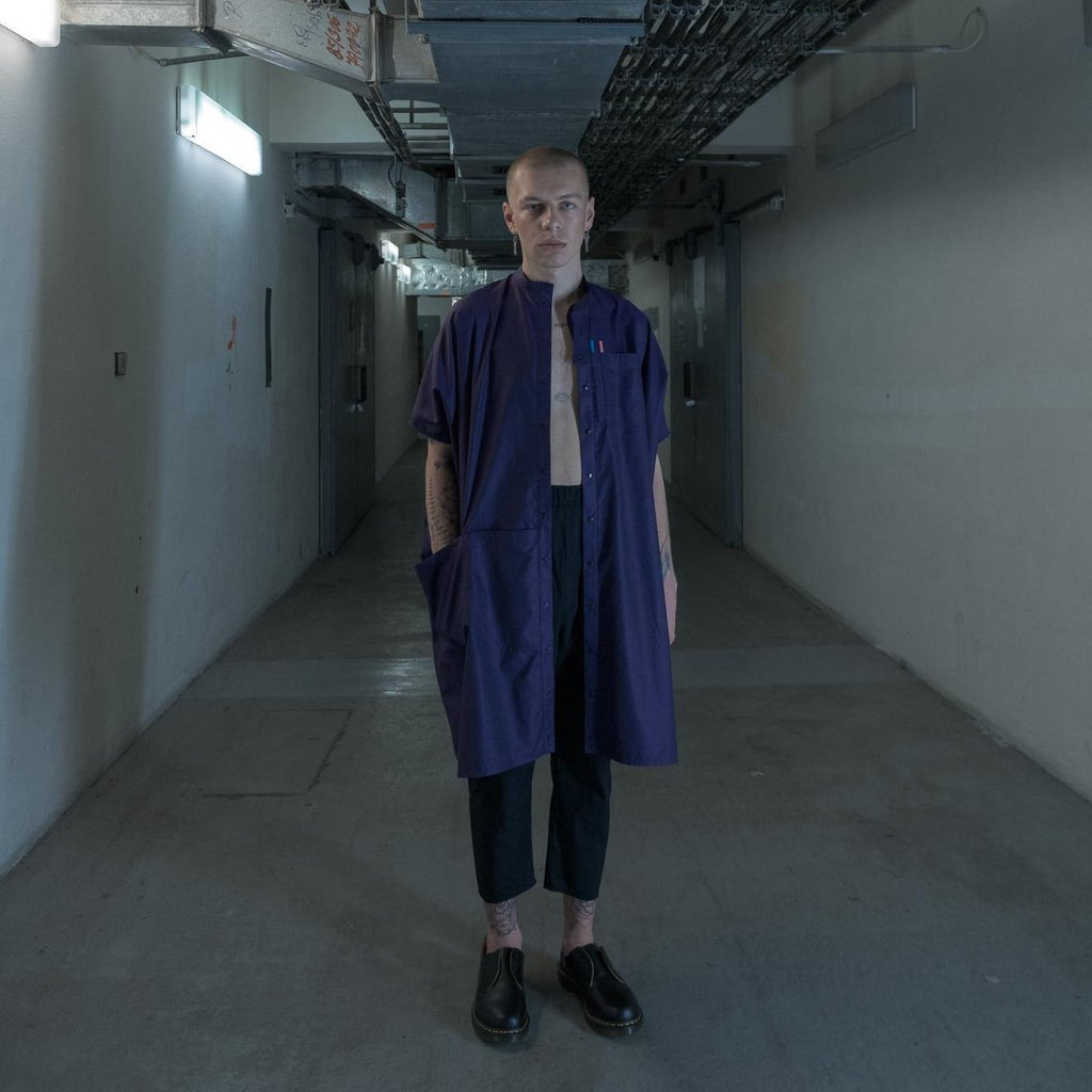 LABORATORY OVERSIZED SHIRT - DEEP PURPLE