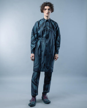HYBRID SHIRT DRESS WITH SLEEVES - HANA FRISONSOVA