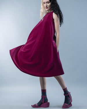 HYBRID VELVET DRESS - HANA FRISONSOVA