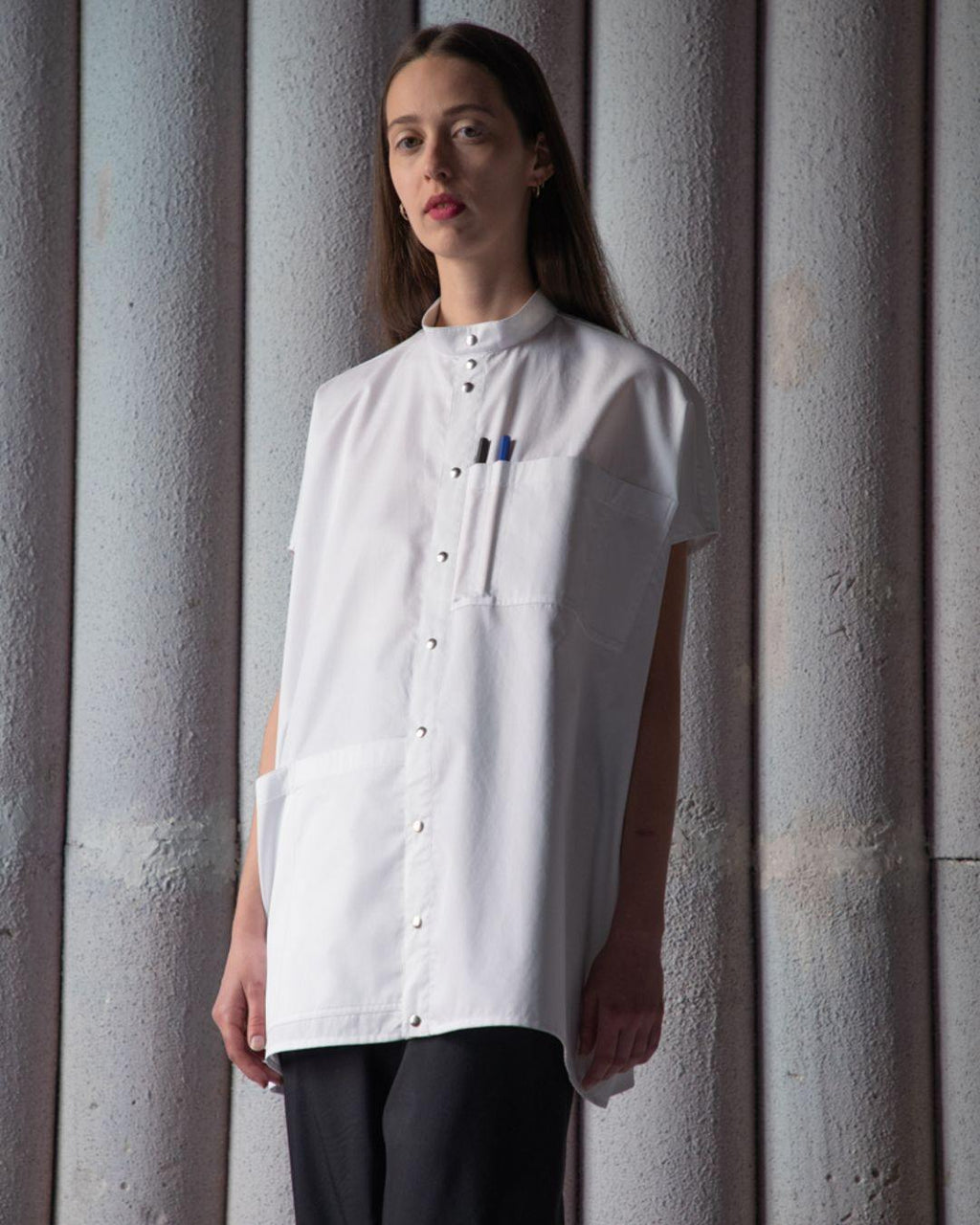 LABORATORY SHIRT TOP - WHITE