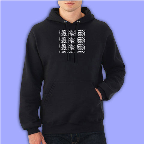 1 800 Just Monika  Doki Doki Literature Club Inspired Men'S Hoodie